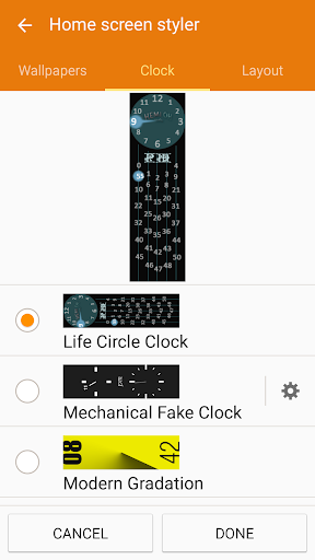 Gear Fit Stand Clock