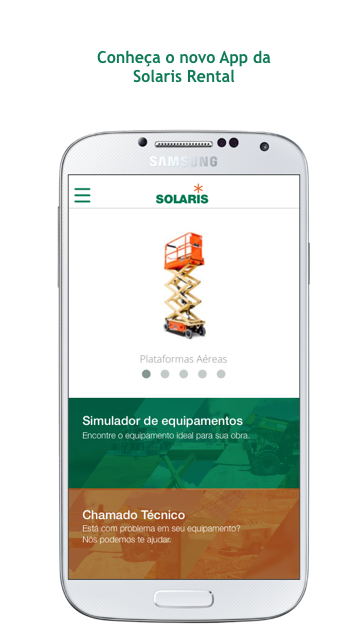 Solaris Rental: captura de tela