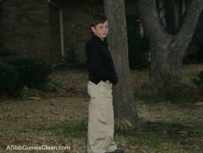Photo: My son didn't jump up and down with excitement over new uniform pants, but he liked them. They were comfortable!