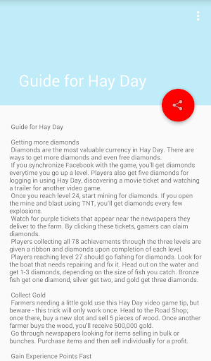 Guide for Hay Day