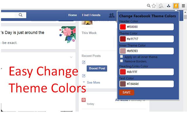 Changer Facebook Thème Couleur