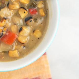 Sunday Slow Cooker Roasted Corn Chowder