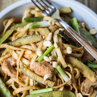 Spicy Szechuan Peanut Noodles with Chicken