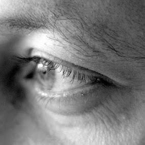 Eye by Saravanan Veeriah - People Body Parts ( black n white, body parts, eyes., man, portrait, portrait of men, eye )
