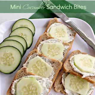 Mini Cucumber Sandwich Bites.
