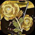 Gold Rose Luxury Black Business Theme icon