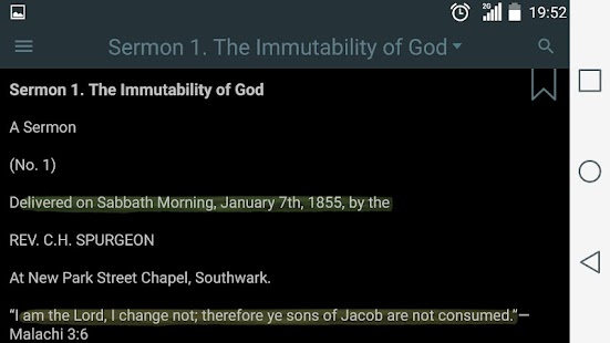 Spurgeon's Sermons- screenshot thumbnail
