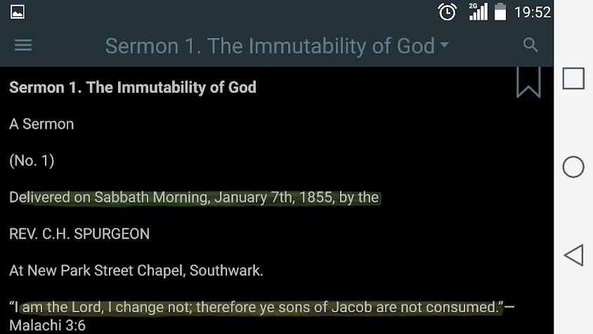 Spurgeon's Sermons Screenshot