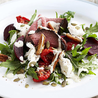 Roast Beef Salad with Beets, Arugula and Mozzarella