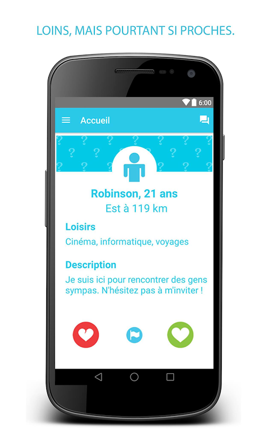 Application android rencontre gratuite