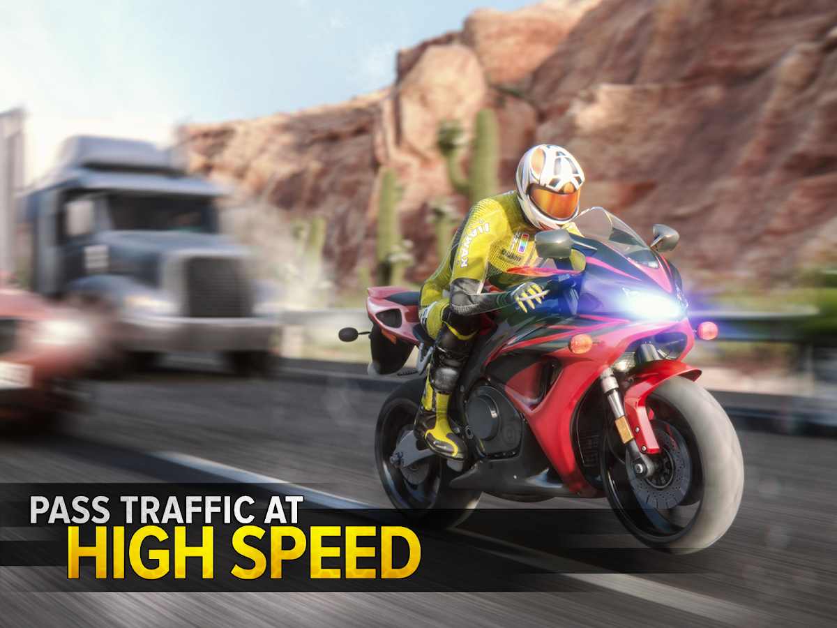 Highway Rider Motorcycle Racer- screenshot