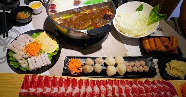 四川麻辣火鍋搭配浮誇系肉盤 愛食鍋麻辣鴛鴦