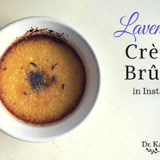 Lavender Crème Brûlée in Instant Pot.