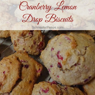 Cranberry Lemon Drop Biscuits