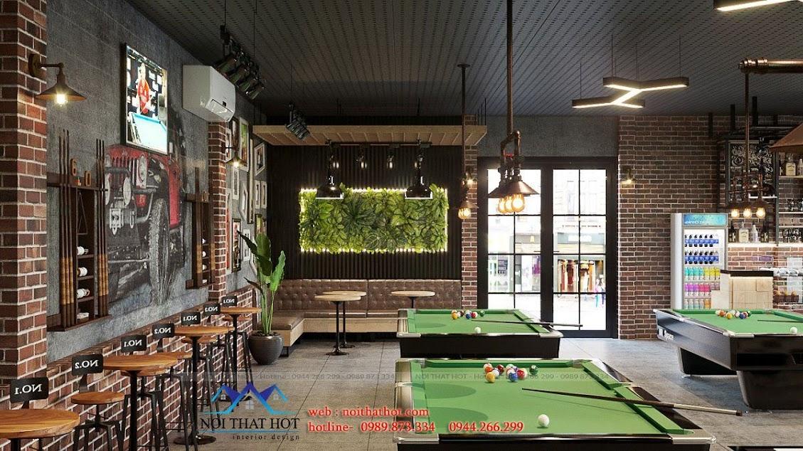 thiết kế quán billiards hiện đại