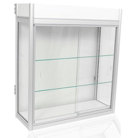Glasmonter f. väggskena/stativ