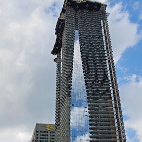 1 Bloor St. E. Peekaboo by Gerda Grice - Buildings & Architecture Office Buildings & Hotels ( clouds, sky, buildings, reflections, architecture,  )