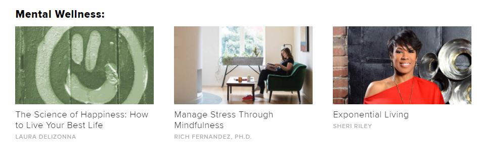 Mental wellness online learning class