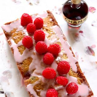 Raspberry Loaf Cake with Chambord Glaze.