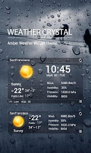 desktop weather clock widget screenshot 0