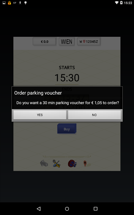 paperless.Parking-Vienna,cell phone short parking- screenshot