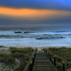 Zen by Gil Reis - Buildings & Architecture Bridges & Suspended Structures ( waves, places, ocean, nature, portugal, weather, bio, sea, life, wind )