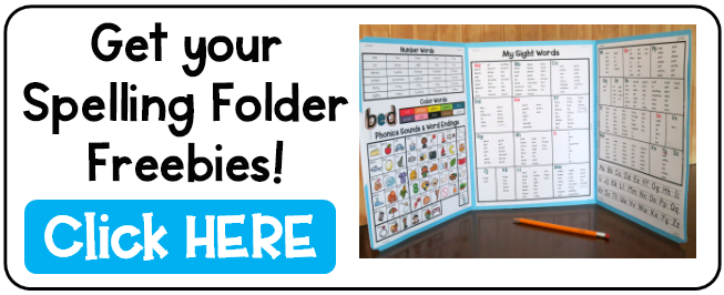 Spelling Folder with FREE Printables - This Reading Mama