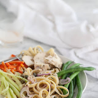 Chicken Nicoise Pasta Salad.
