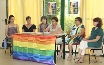 Photo: 28J Huesca. 25.06.2015 Rueda de Prensa Coordinadora Día del Orgullo 28H Huesca / Cordinadera Dia de l´argüello 28 Ch Uesca.