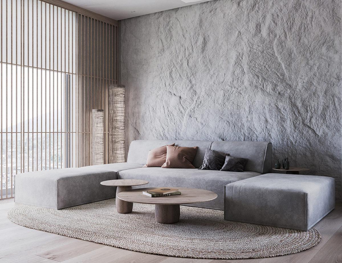 Elemen 'tekstur' pada desain interior - source: home-designing.com