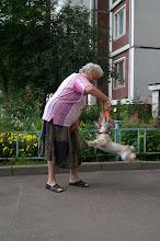 Photo: Летающая собака. С бабушкой Натальей Александровной