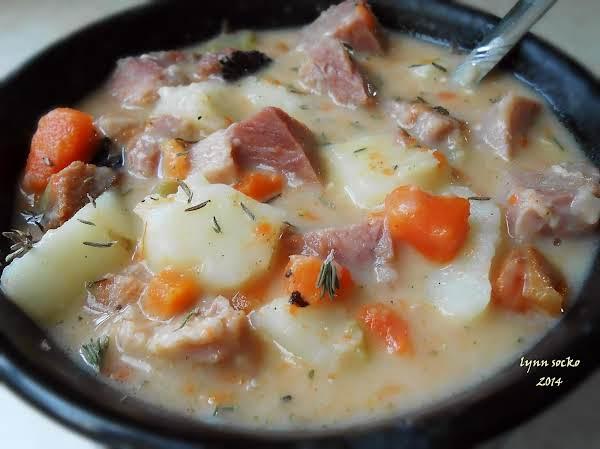 Smokey, Cheesy Ham And Tater Soup Recipe