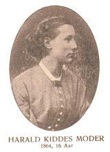 Photo: Inger Dorothea Kidde, kaldet Doris, f.Corneliussen, 25/9-1848 til 12/1-1931,  g.m. Christen Henriksen Kidde, fem børn.