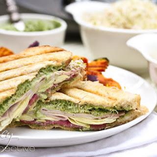 Creamy Pesto Panini Sandwich