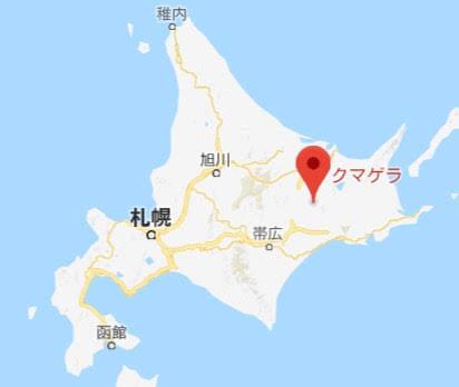 地図:クマゲラ
