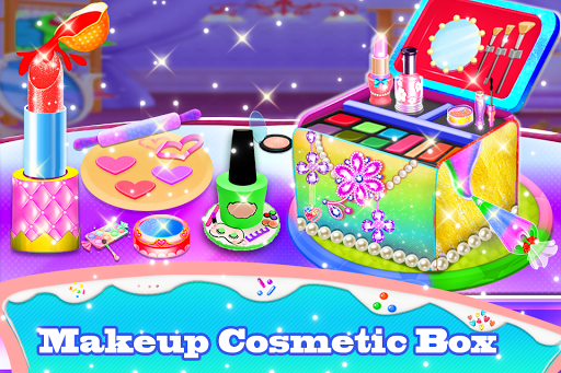 Makeup kit cakes : cosmetic box makeup cake games 1.0.4 screenshots 6