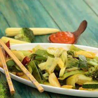 Schezuan Style Stir Fried Vegetables.