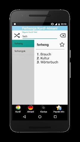 android Kurdische-Deutsch Wörterbuch Screenshot 0