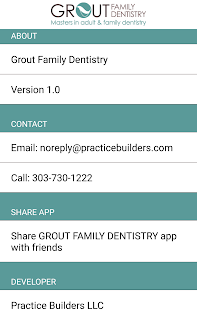 GROUT FAMILY DENTISTRY- screenshot thumbnail