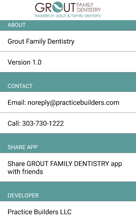 GROUT FAMILY DENTISTRY- screenshot