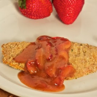 Baked Tilapia with a Mustard Strawberry Sauce