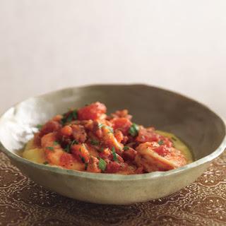 Shrimp and Pancetta on Polenta