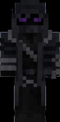 a black ninja mine craft skin