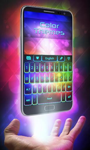 カラーテーマのキーボード