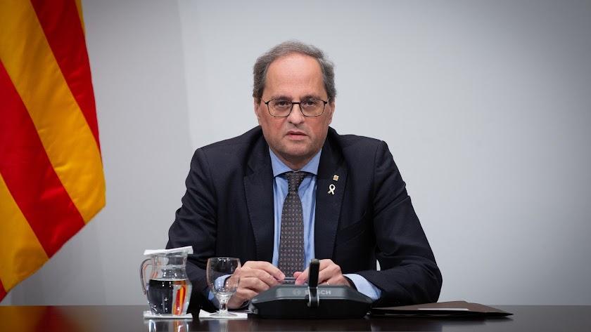 El presidente del Gobierno de Cataluña, Quim Torra.