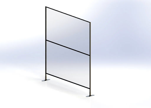 Plexiglass ProWall skillevegg