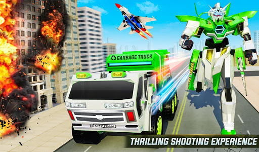Flying Garbage Truck Robot Transform: Robot Games modavailable screenshots 9