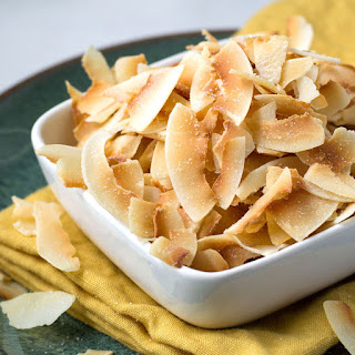 Homemade Toasted Coconut Chips.