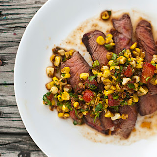 Steak with Roasted Corn Salsa