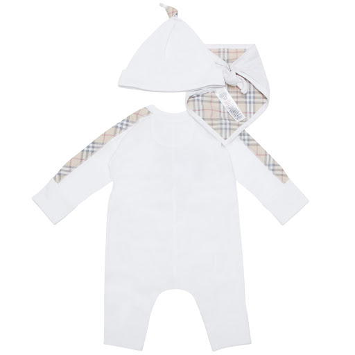Thumbnail images of Burberry Babygrow Gift Set